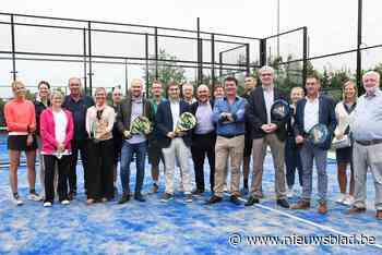 Tennisclub neemt twee padeltereinnen in gebruik