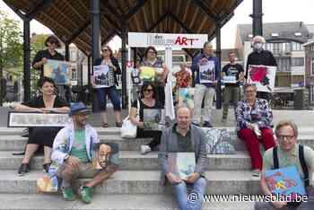 Lokale kunstenaars stellen tentoon op 'schildersmarkt' onder... (Vilvoorde) - Het Nieuwsblad