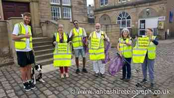 Brierfield town litter picking group keeping streets clean