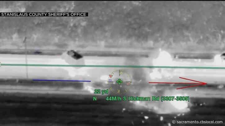 Video Shows Man Crashing Into Deputies' Command Post Denair