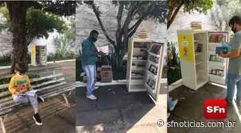 Projeto 'Fome de Leitura': geladeiras se transformam em biblioteca itinerante em Cambuci - SF Notícias