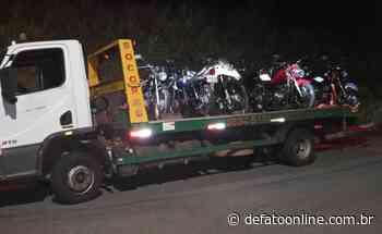 Motocicletas usadas na prática de direção perigosa são apreendidas em Itabira - DeFato Online