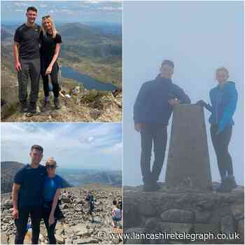Couple complete 3 Peaks Challenge for East Lancashire Hospice