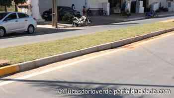 Blocos de concreto são substituídos por canteiros em Lucas do Rio Verde - ® Portal da Cidade | Lucas do Rio Verde