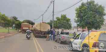 Ciclista se envolve em acidente com carreta em Mandaguari - Mandaguari Online