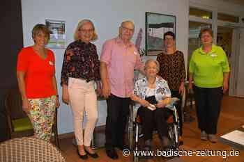 Walburga Sahner feiert ihren 101. Geburtstag in Rheinfelden - Rheinfelden - Badische Zeitung