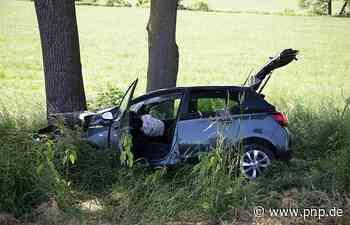 Auto prallt auf B388 im Raum Vilsbiburg gegen Baum - Passauer Neue Presse