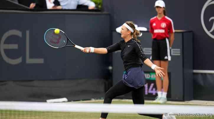 Bad Homburg Open: Victoria Azarenka moves into 2R; 3rd seed Jessica Pegula upset