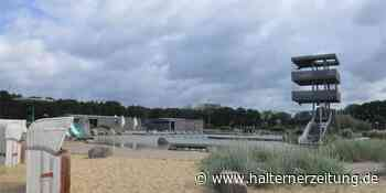 Naturbad in Olfen bot Abkühlung in der Hitze: Strandfeeling im Freibad - Halterner Zeitung