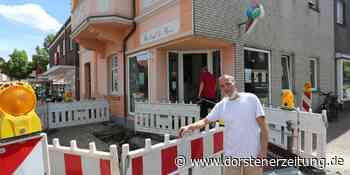 Wasserrohrbruch: Riesiges Loch klafft vor Eiscafé de Bona | Olfen - Dorstener Zeitung