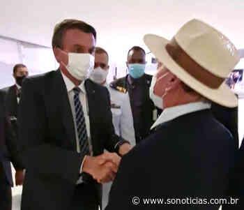 Prefeito de Sinop se encontra com Bolsonaro no lançamento do plano safra - Só Notícias