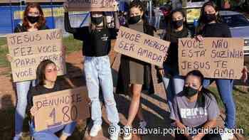 Conexão nas ruas Voluntárias fazem ação contra violência doméstica no lago do parque Ouro Branco 22 - ® Portal da Cidade   Paranavaí