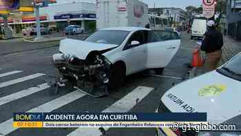 Acidente entre dois carros mobiliza PM no Rebouças, em Curitiba - G1