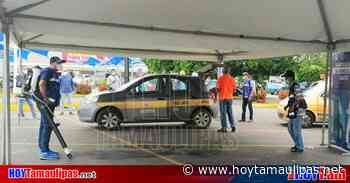 Tamaulipas Retoman en Tampico desinfeccin de automviles del transporte pblico - Hoy Tamaulipas