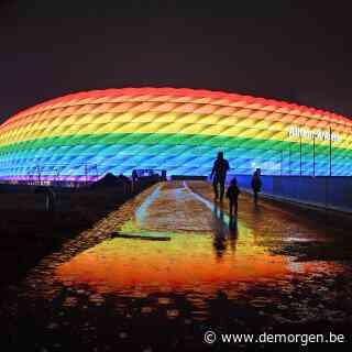 In heel Europa krijgen voetbalstadions vanavond de regenboogkleuren, Orban niet aanwezig