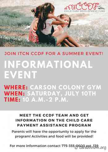Informational Event: Child Care Payment Assistance for Native Families - Carson Now