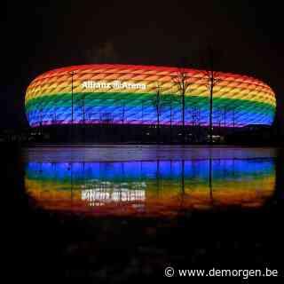 Na UEFA-verbod: in heel Europa krijgen voetbalstadions de regenboogkleuren vanavond