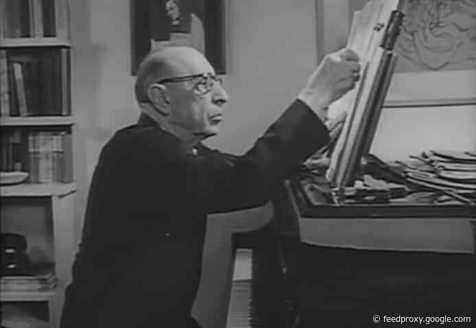 Igor Stravinsky Appears on American Network TV & Tells Stories About His Unconventional Musical Life (1957)