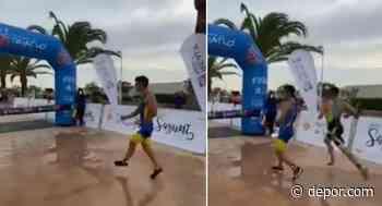 Joven pierde un triatlón por celebrar la victoria antes de tiempo y la escena se vuelve viral en las redes sociales - Diario Depor