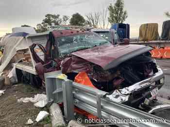 Fuerte choque en la cuota Celaya - Noticias de Querétaro