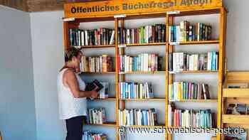 Öffentliches Bücherregal ist kein Müllabladeplatz   Alfdorf - Schwäbische Post