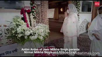 Last Ardas for legendary Indian athlete Milkha Singh and wife Nirmal Milkha Singh in Sector 8 gurdwara