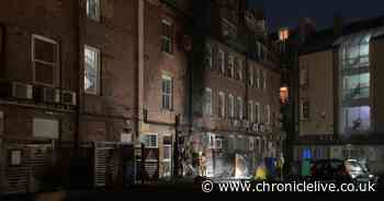 Firefighters tackle blaze in suspected city centre arson attack