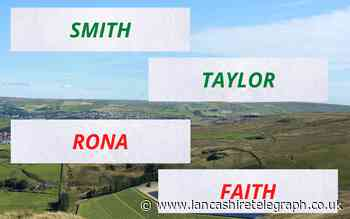 Most and least common names and surnames in Lancashire