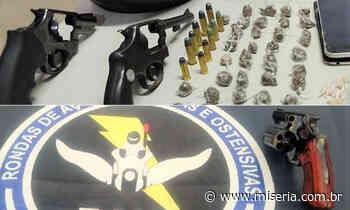 Dupla presa em Juazeiro com armas e drogas e jovem com revólver em Barbalha - Site Miséria