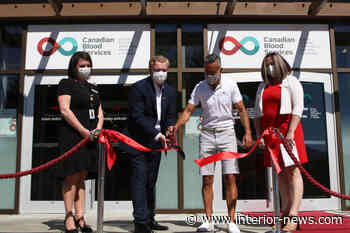 B.C.'s first dedicated plasma donor centre opens in Kelowna - Smithers Interior News