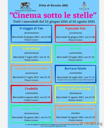 """""""Cinema sotto le stelle"""". A Rovato si parte mercoledì 23 giugno - Rovato.org"""