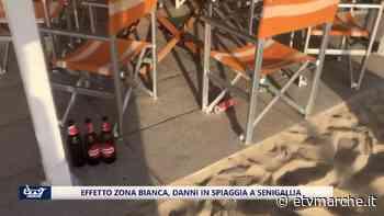 Primi effetti da zona bianca: danni in spiaggia a Senigallia, sul Conero le prime ordinanze - VIDEO - Redazione ETV Marche