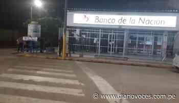 En Moyobamba, sujeto en estado de ebriedad ingresa a las instalaciones del Banco de la Nación al promediar la media noche - Diario Voces