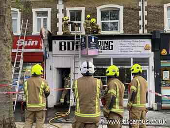 West Sussex fire crews attend roof fire in Worthing
