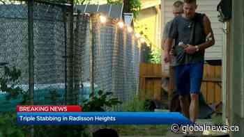 Calgary police investigate triple stabbing in Radisson Heights