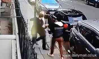 Two thugs seen violently mugging elderly man in Chelsea on CCTV footage