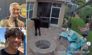 Moment cop tasers a biracial teenager outside his girlfriend's home in Florida