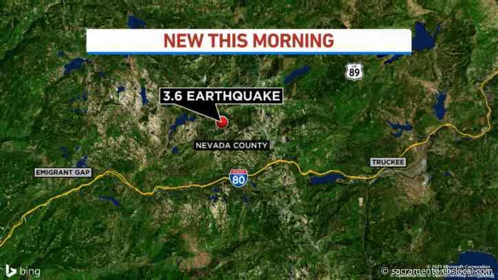 3.6-Magnitude Quake Centered Near Kingvale Shakes High Country