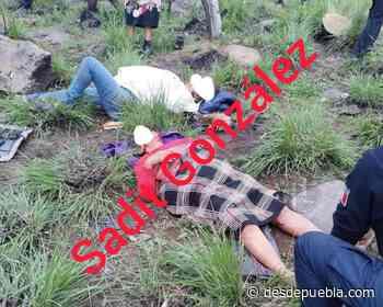 5 lesionados deja aparatosa volcafura en la Tlaxco - Chignahuapan - desdepuebla.com - DesdePuebla