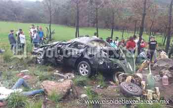 Vuelca vehículo con familia a bordo, en Tlaxco; cinco personas resultaron heridos de gravedad - El Sol de Tlaxcala