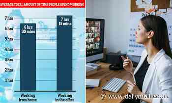 People working from home worked 45 minutes less a day than those back in, official data shows