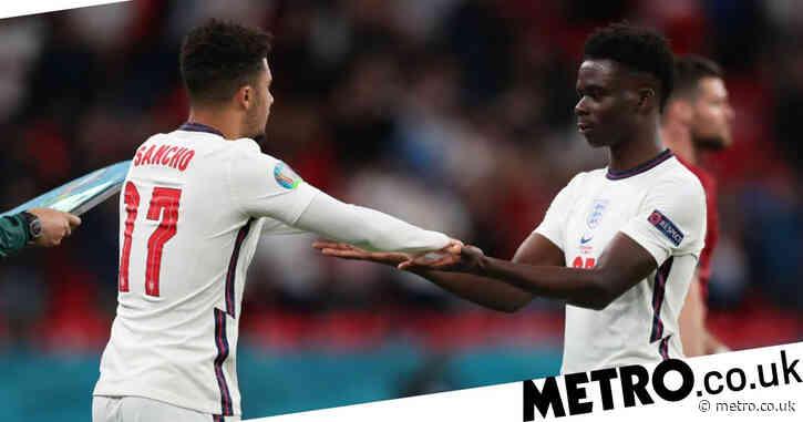 Jadon Sancho sends message to Bukayo Saka after England's victory over Czech Republic