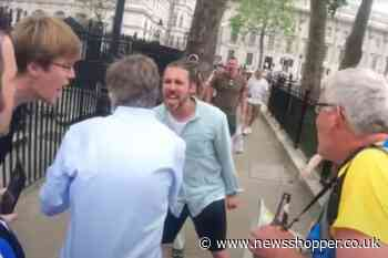 Second man charged after BBC journalist chased by protesters