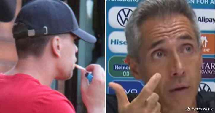 Poland coach reacts after ex-Arsenal star Wojciech Szczesny is caught smoking again