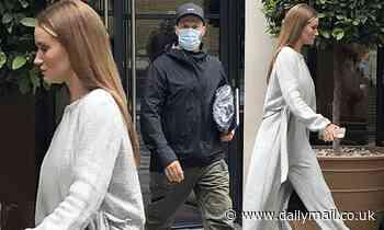 Rosie Huntington-Whiteley and Jason Statham  leave their hotelin London
