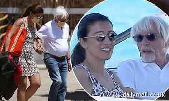 Bernie Ecclestone, 90, walks hand-in-hand with wife Fabiana Flosi, 44, in Ibiza