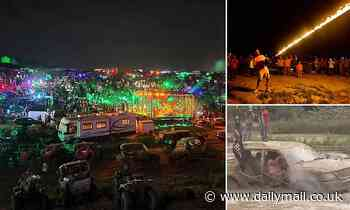 Redneck Rave in Kentucky descends into chaos as 48 people are charged and man is impaled on log