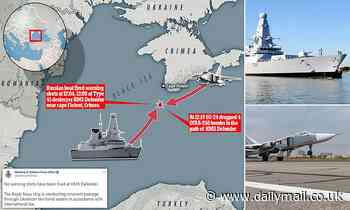UK denies Russian claims that its military dropped BOMBS in path of Royal Navy destroyer near Crimea