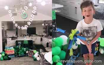Fernanda Machado decora casa e faz surpresa de aniversário para o filho - QUEM Acontece