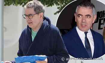 Man vs Bee: Rowan Atkinson, 66, looks incredibly relaxed in dressing gown on set of Netflix comedy